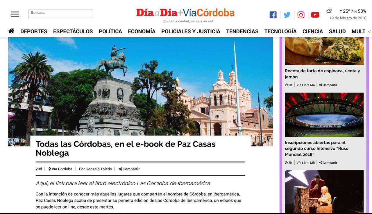Presentación del ebook Las Córdoba de Iberoamérica  en el Festival de la Palabra