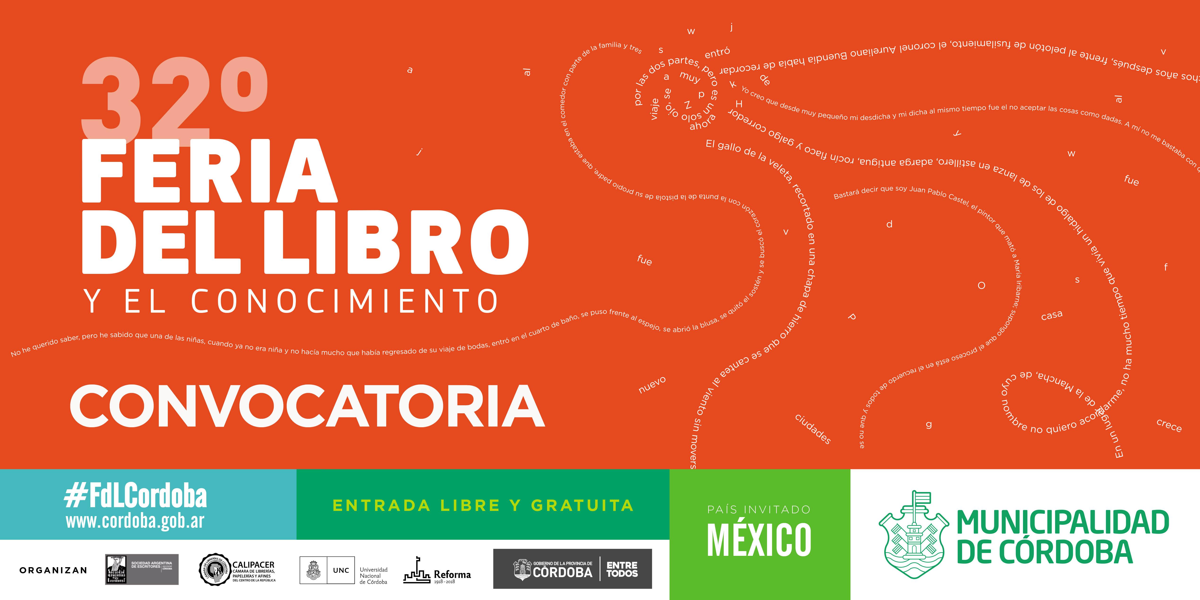 Última semana para participar de la 32ª Feria del Libro Córdoba 2017